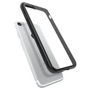 iPhone 7 Case, Spigen® [Ultra Hybrid] AIR CUSHION [Black] Clear back panel + TPU bumper for iPhone 7 (2016) - (042CS20446)