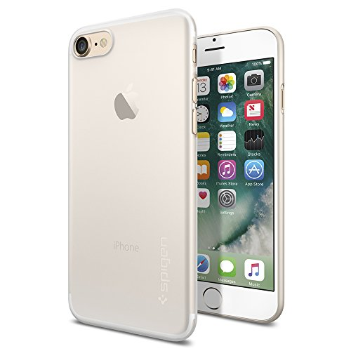 iPhone 7 Case, Spigen® [Air Skin] Ultra-Thin [Soft Clear] Premium Semi-transparent Lightweight / Exact Fit / NO Bulkiness Hard Case for iPhone 7 (2016) – (042CS20487)