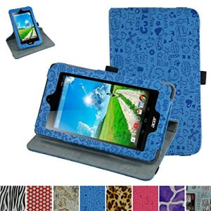 """Acer Iconia B1-770 Rotating Case,Mama Mouth 360 Degree Rotary Stand With Cute Lovely Pattern Cover For 7"""" Acer Iconia B1-770 Android Tablet,Blue"""