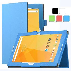 Acer Iconia One 10 B3-A20 Case - IVSO Slim-Book Stand Cover Case for Acer Iconia One 10 B3-A20 10.1-Inch Tablet (Blue)