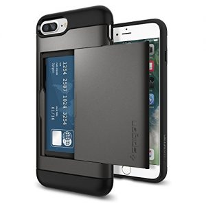 SPIGEN Slim Armor CS Fit Dual Layer Protective Wallet Cover Case with Card Slot Holder for Apple iPhone 7 Plus - Gunmetal