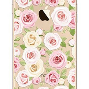 iPhone 6S Case,Invisible Gel Sketch Back Cover for iPhone 6 / 6s 4.7,Richera iPhone 6 6S Silicone Protective Case,Crystal Clear Bumper Case Colorful Pattern Flower Camellia Chrysanthemum Cherry Swallow Donuts Sakura Butterfly Flamingos Cats Ladybug Banana Orange Moustache Alien Design Cute Printing Rubber Transparent Jelly Protective Case for iPhone 6 4.7 Inch + Richera Keyring (Pink camellia)