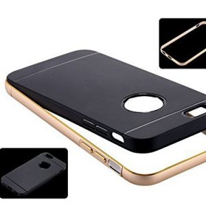 "CoziCase - iPhone 6 / 6s Premium Dual Layer Case 4.7"" Rubber TPU With Slim Aluminium Bumper"