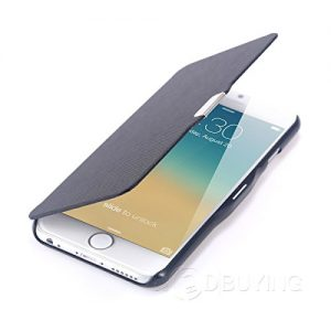 CoziCase iPhone 6 / 6s Ultra Thin Magnetic Flip Case Wallet Cover (Black)