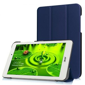 TopAce PU Leather Smart Case With Stand Function For Acer Iconia One 8 B1-850 (Blue)