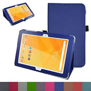 """Acer Iconia One 10 B3-A20 Case,Mama Mouth PU Leather Folio 2-folding Stand Cover with Stylus Holder for 10.1"""" Acer Iconia One 10 B3-A20 Android Tablet,Dark Blue"""
