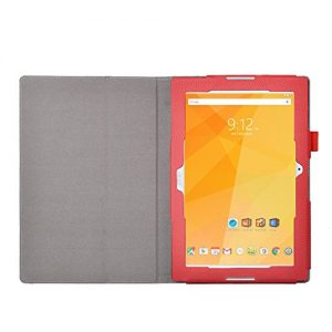 Acer Iconia One 10 B3-A20 Case - IVSO Slim-Book Stand Cover Case for Acer Iconia One 10 B3-A20 10.1-Inch Tablet (Red)