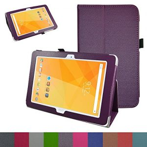 """Acer Iconia One 10 B3-A20 Case,Mama Mouth PU Leather Folio 2-folding Stand Cover with Stylus Holder for 10.1"""" Acer Iconia One 10 B3-A20 Android Tablet,Purple"""