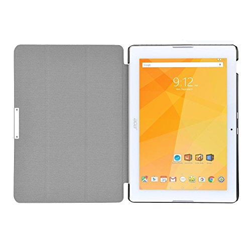 KuGi High quality ultra-thin Smart Cover Case for Acer Iconia One 10 B3-A20 Tablet.(Black)