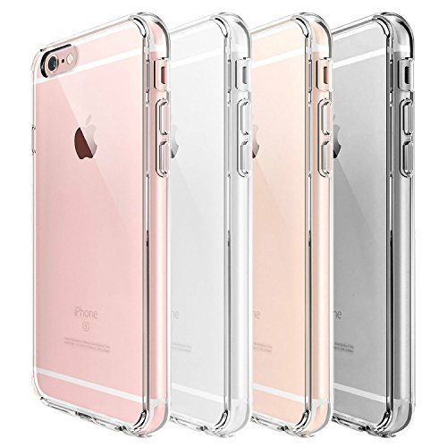 iPhone 7 Case, DN-Alive [Fusion] Crystal Clear PC Back TPU Gel Case [Drop Protection/Shock Absorption Technology] For Apple iPhone 7 – Crystal View