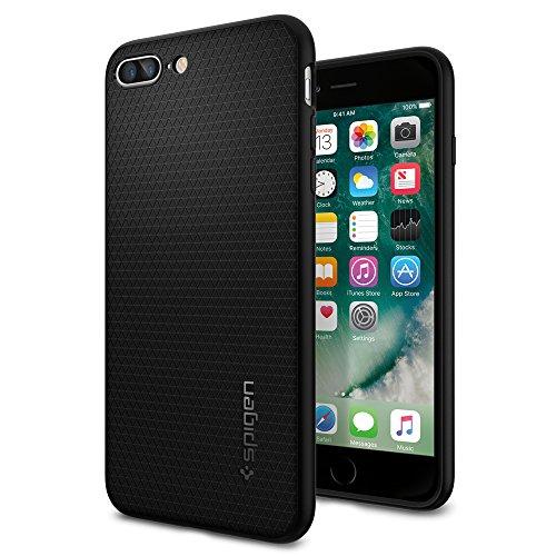 iPhone 7 Plus Case, Spigen® [Liquid Armor] Soft [Black] Premium Flexible Soft TPU Case for iPhone 7 Plus (2016) - (043CS20525)