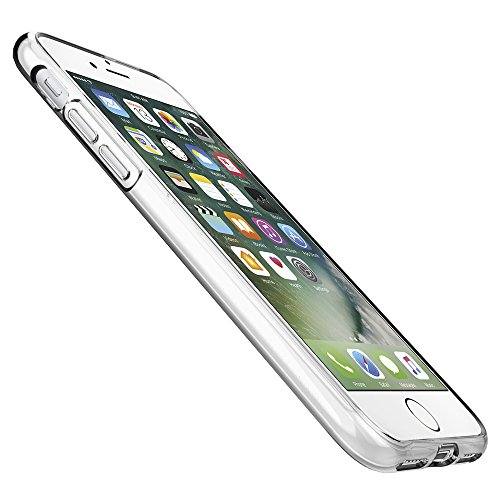 iPhone 7 Case, Spigen® [Liquid Crystal] Ultra-Thin [Crystal Clear] Premium Semi-transparent / Exact Fit / NO Bulkiness Soft Case for iPhone 7 (2016) – (042CS20435)