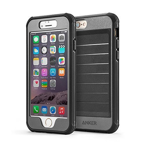 iPhone 6s Case, Anker® Ultra Protective Case With Built-in Clear Screen Protector for iPhone 6 / iPhone 6s (4.7 inch) Drop-Tested, Dust Proof Design (Black/Grey)