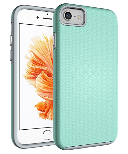 iPhone 7 Case Dual Layer Slim Fit Hybrid Cover with Dotted Textured Pattern / Shock Absorption and Anti-Scratch Technology or Apple iPhone 7 Case (4.7 inch)