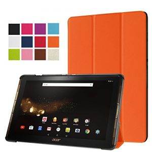 """Acer Iconia Tab 10 A3-A40 Case, Pasonomi® Ultra Slim Lightweight PU Leather Folio Case Stand Cover for Acer Iconia Tab 10 A3-A40 10.1"""" Android Tablet (Orange)"""