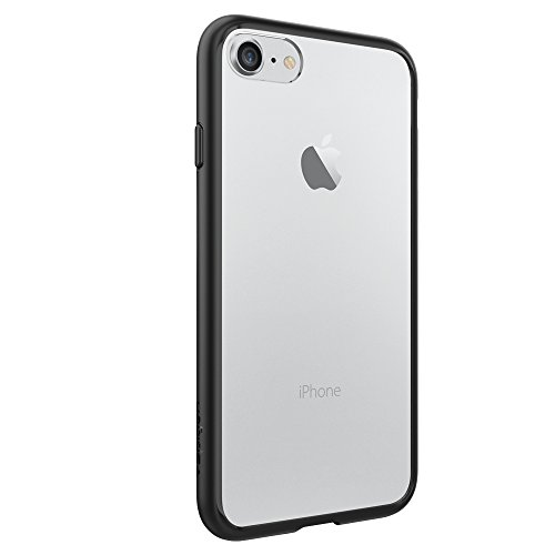 iPhone 7 Case, Spigen® [Ultra Hybrid] AIR CUSHION [Black] Clear back panel + TPU bumper for iPhone 7 (2016) - (042CS20446)