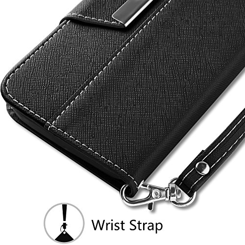 iPhone 6 Case – Vakoo Flip Case iPhone 6 Wallet Case Premium PU Leather Protective Case for iPhone 6 / 6S 4.7 Inch,Black