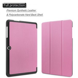Infiland Acer Iconia One 10 B3-A20 Case Cover- Ultra Slim Lightweight Shell Stand Cover for Acer Iconia One 10 B3-A20 10.1-Inch Tablet(Pink)