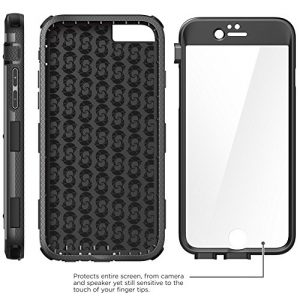 Apple iPhone 6 / 6s 4.7 inch Case, i-Blason Armorbox Dual Layer Hybrid Full-body Protective Case with Built-in Screen Protector / Impact Resistant Bumpers (Black)