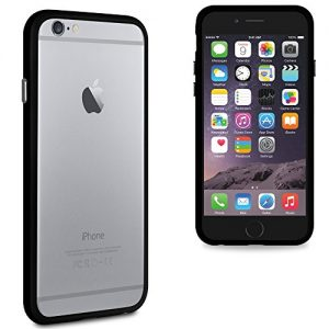 "iGloo Gel Rim Bumper Case Cover Skin for the Apple iPhone 6 & 6s (4.7"") - Black"