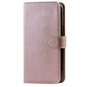 Abacus24-7 iPhone 7 Case, Wallet with RFID Blocking Flip Cover, Rose Gold