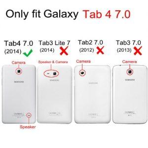 Fintie Samsung Galaxy Tab 4 7.0 (7-Inch) Smart Shell Case - Ultra Slim Lightweight Stand Cover, Black