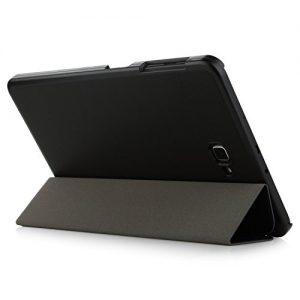Samsung Galaxy Tab A 10.1 Case -iHarbort Ultra Slim Lightweight Smart-shell Holder Stand Leather Case for Samsung Galaxy Tab A 10.1 Inch (2016 Version SM-T580N SM-T585N), With Smart Auto Wake / Sleep function (Galaxy Tab A 10.1, Black)