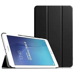 """Fintie Samsung Galaxy Tab E 9.6"""" Smart Shell Case - Ultra Slim Lightweight Stand Cover for Samsung Tab E SM-T560 / T561 / T565 9.6-Inch Tablet, Black"""
