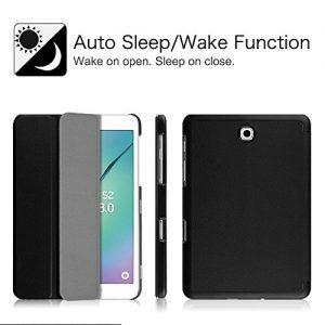 Fintie Samsung Galaxy Tab S2 8.0 SmartShell Case - Ultra Slim Lightweight Stand Cover with Auto Sleep/Wake Feature for Samsung Galaxy Tab S2 Tablet (8IN Wi-Fi SM-T710 / LTE SM-T715), Black