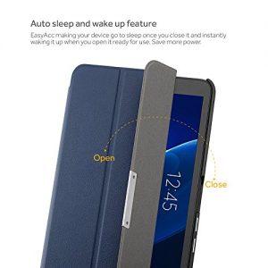 EasyAcc Samsung Galaxy Tab A 10.1 Case, EasyAcc Ultra Slim Lightweight with Stand / Auto Sleep Wake-up Function Cover Smart Case for Samsung Galaxy Tab A 10.1 SM-T580N/ SM-T585N (Top Premium PU Leather, Folded Cover Design, Dark Blue)