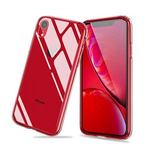 Meidom iPhone Xr Case with Anti Scratch 9H Tempered Glass Back and TPU Soft Silicone Bumper phone Case for iPhone Xr – Clear