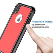 ATOP iPhone Xr case, Full-Body Protection Rugged Clear Bumper Case with Built-in Screen Protector,Heavy Duty Dropproof Shockproof Case for iPhone Xr 6.1 Inch 2018