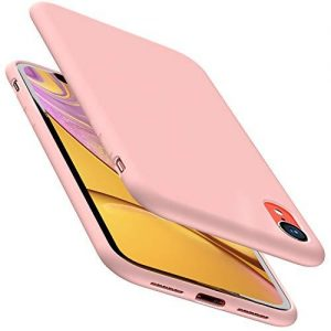 TOZO for iPhone XR Case 6.1 Inch (2018) Liquid Silicone Gel Rubber Shockproof Shell Ultra-Thin [Slim Fit] Soft 4 Side Full Protection Cover - [Pink]