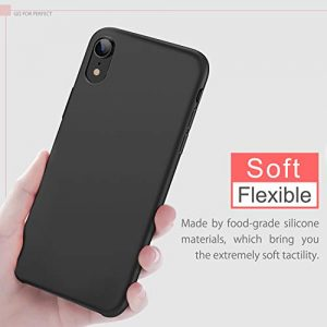 BKSTONE iPhone XR Case, Liquid Silicone Gel Rubber Shockproof Case with Soft Microfiber Cloth Lining Cushion Compatible with Apple iPhone XR/iPhone XS MAX (iPhone XR, Black)