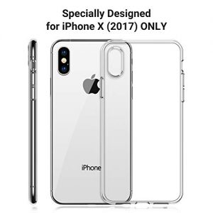 TORRAS iPhone X Case, [Specifically for iPhone X] Crystal Clear [Anti-Yellow] Slim Thin Fit with Reinforced Soft Silicone Gel iPhone X Phone Case Cover – Full Clear
