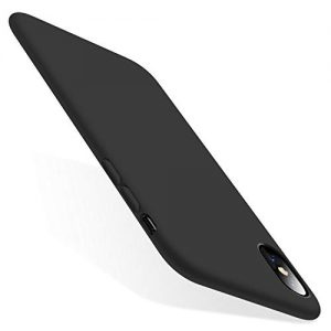 TORRAS iPhone X Case, iPhone XS Case, [Love Series] Liquid Silicone Gel Rubber Shockproof XS Case Soft Microfiber Cloth Lining Cushion for iPhone X (2017)/ iPhone XS (2018) - Black