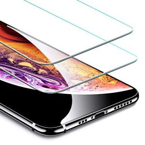 "ESR Screen Protector for iPhone Xs/X [2 Pack] [Free Installation Frame] [Case-Friendly], Premium Tempered Glass Screen Protector for the 5.8"" iPhone Xs (2018)/iPhone X (2017)"