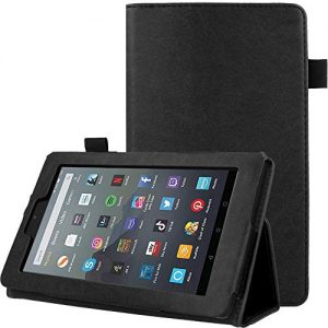 TECHGEAR PU Leather Case fits Amazon Fire 7″ (2019 Edition/9th Gen)