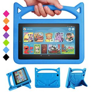 DJ&RPPQ Tablet 7 2019 Case,Light Weight Shock Proof Convertible Handle Stand Kids Case for ???e 7 inch Display Tablet(Compatible with 5th Generation 2015/7th Generation 2017/9th Generation 2019)