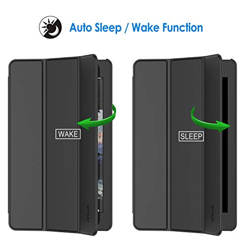 JETech Case for Amazon Fire 7 Tablet (9th Generation 2019 Release Only), Smart Cover with Auto Sleep/Wake, Black