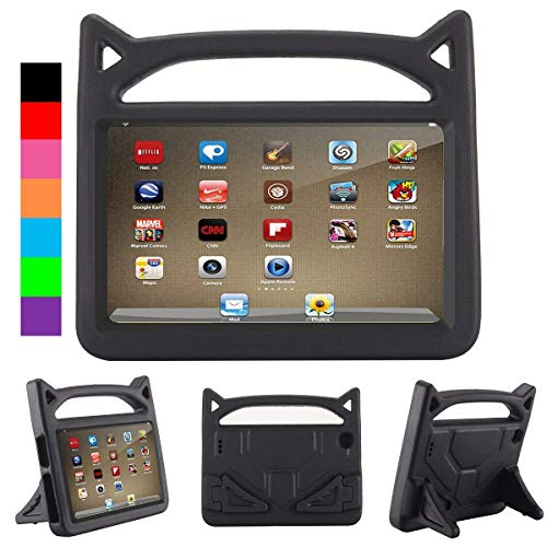 """2017 F i r e 7 inch case Kids Light Weight Shock Proof Handle and foldable stand Case for A m a z o n F i r e 7 Tablet (7"""" Display -Universal 2017 and 2015 F i r e"""")"""