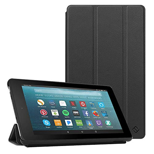 Fintie Slim Case for All-New Amazon Fire 7 Tablet (9th Generation, 2019 Release), Ultra Lightweight Slim Shell Standing Cover with Auto Wake/Sleep,