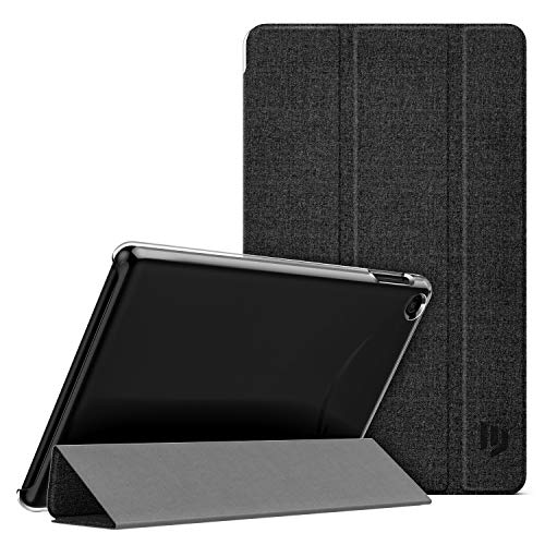 Dadanism Case Fit All-New Amazon Kindle Fire 7 Tablet (9th Gen, 2019 Release), Soft PC Translucent Back Shell Ultra Slim Lightweight Trifold Stand Cover with Auto Sleep/Wake